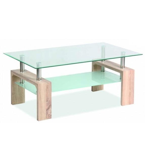 BRW LISA BASIC Üveg dohányzóasztal
