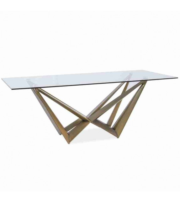 BRW ASTON jedálenský stôl moderný sklenený 200
