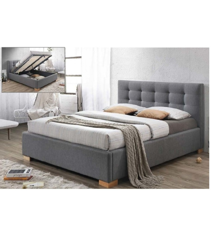 380ee88d96608 BRW COPENHAGEN manželská postel čalúnená 160