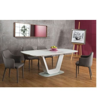 BRW ARMANI Stôl jedálenský rozkladací sklenený