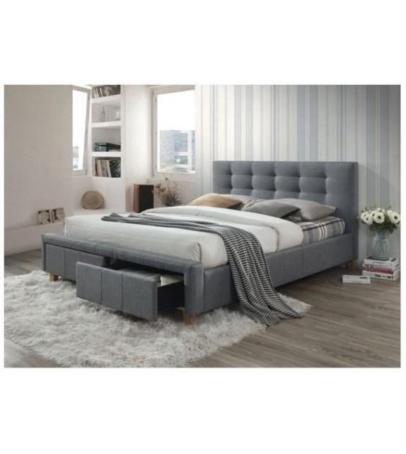 BRW ASCOT 160 manželská posteľ čalúnená