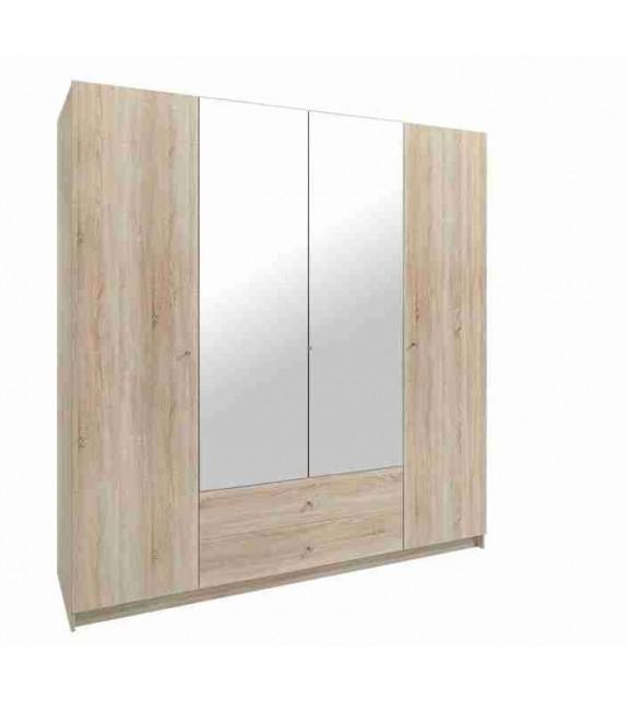 MEBLO MALMO I skriňa so zrkadlom kombinovaná