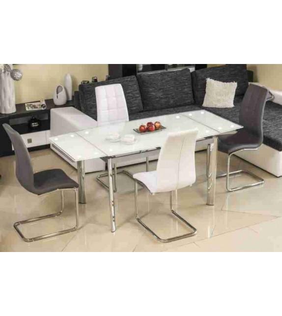 BRW GD-020 jedálenský stôl rozkladací sklenený