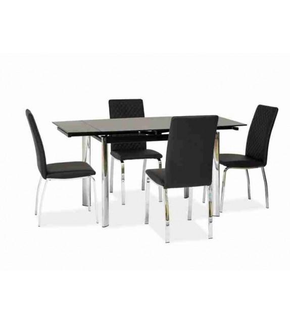 BRW GD-019 jedálenský stôl rozkladací sklenený
