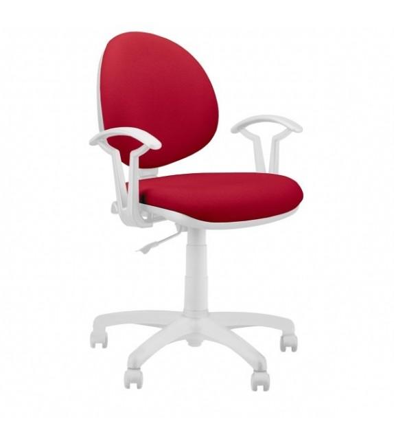 ELBYT SMART WHITE GTS TS02 + opierky GTP27 fix Kancelárska stolička
