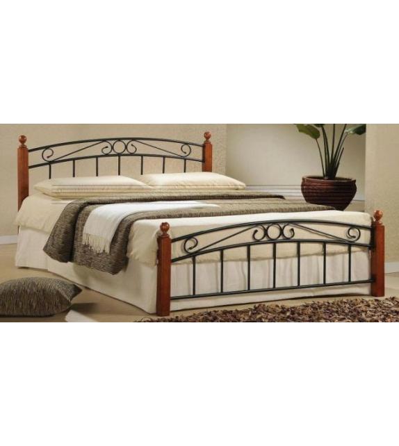 TK DOLORES 160 kovová manželská postel s lamelovým roštom