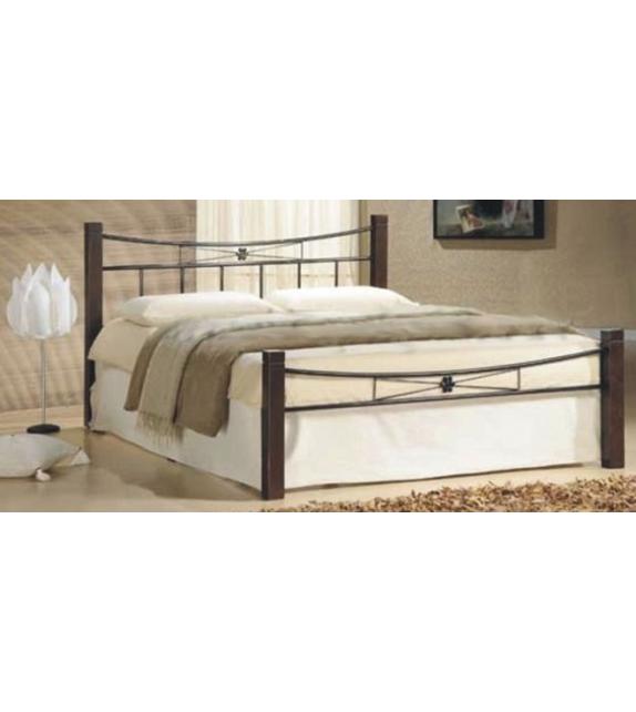 TK PAULA 140 kovová manželská postel s lamelovým roštom