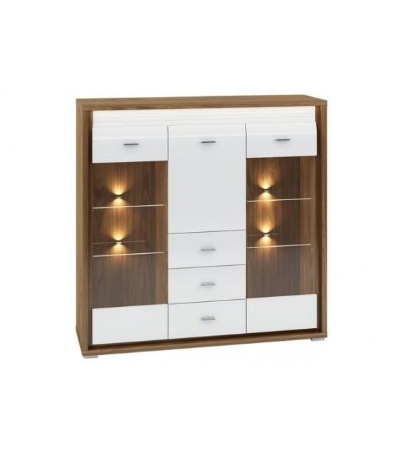 WIP DALLAS 07 vitrína s LED sektorový nábytok