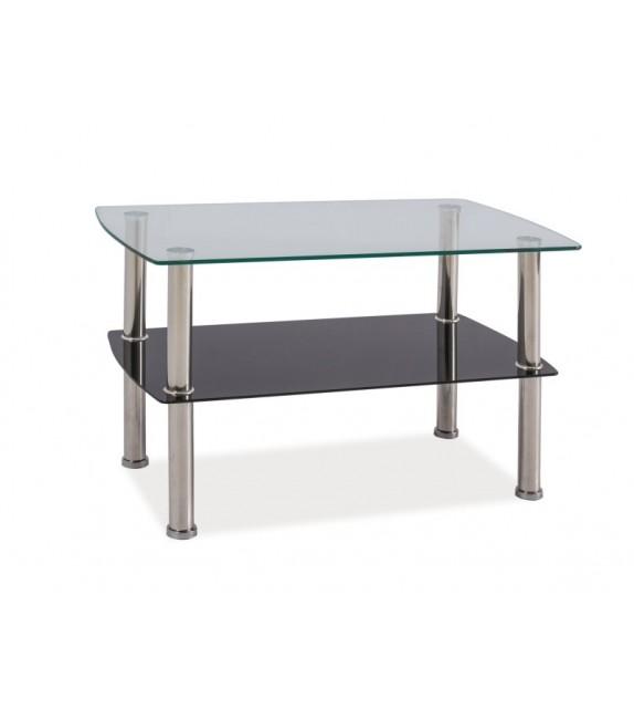 BRW IRENE konferenčný stolík sklenený