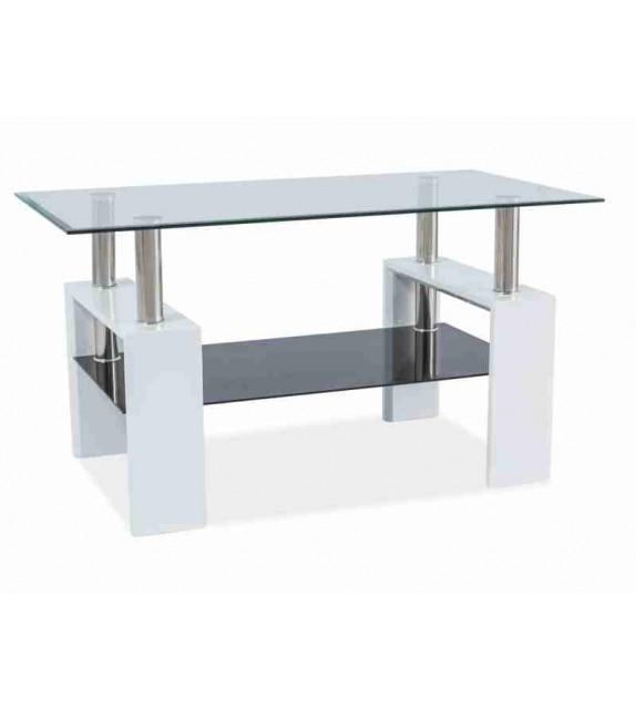 BRW LISA III Üveg dohányzóasztal