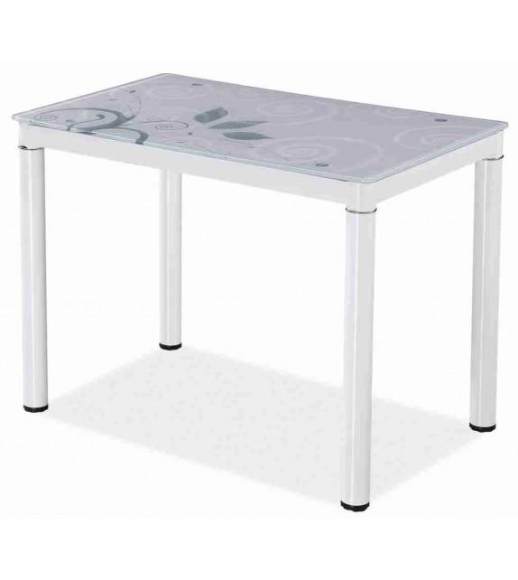 BRW DAMAR Jedálenský sklenený stôl