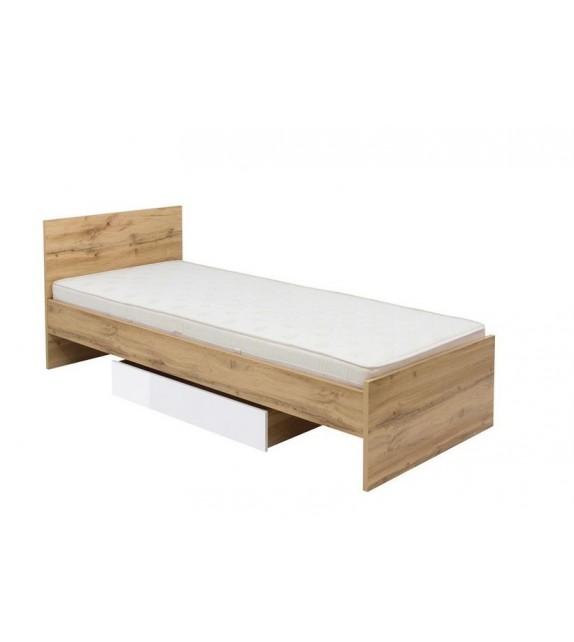 BRW ZELE LOZ/90 posteľ bez roštu a matraca sektorový nábytok