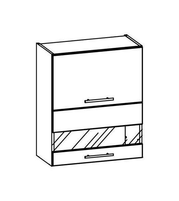 WIP TIFFANY T9/G60W horná kuchynska skrinka sklenená sektor