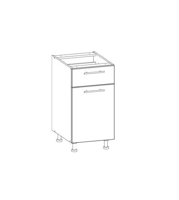 WIP TIFFANY T16/D40S1 dolná kuchynská skrinka sektor