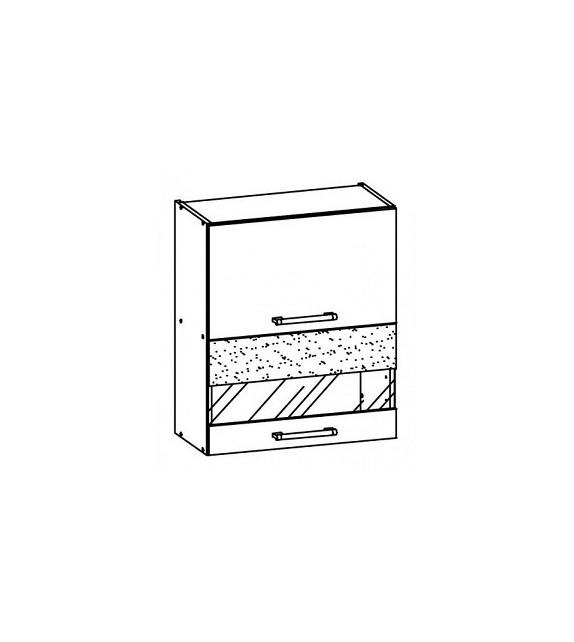 WIP MODENA TAFLA MD8/G60W Horná kuchynská skrinka so sklom
