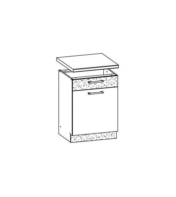 WIP MODENA TAFLA MD16/D60S1 L/P dolná kuchynská skrinka sektor