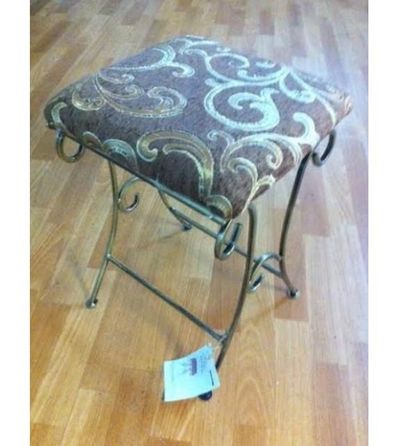 Kovová dekoračná stolička taburet M-046
