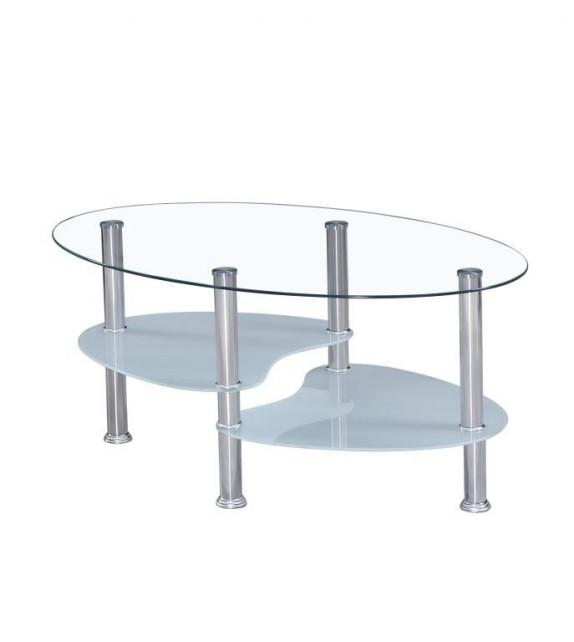 TK WAVE NEW Üveg dohányzóasztal