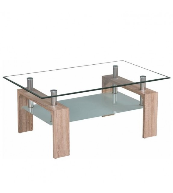 TK Konferenčný stolík sklenený LIBOR NEW sonoma