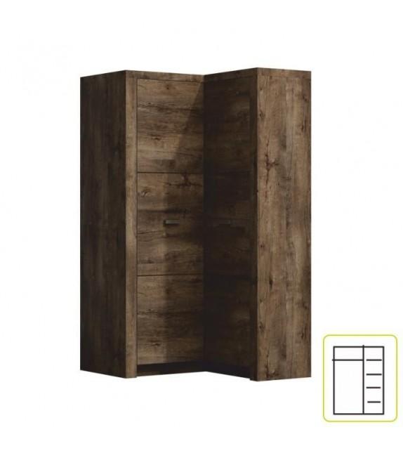 TK INFINITY skriňa kombinovaná rohová L/P 14 luxusný sektorový nábytok