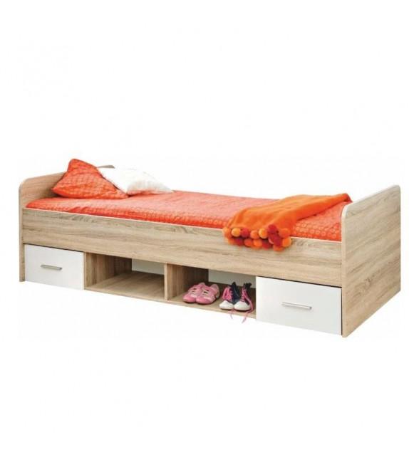 TK EMIO 04 postel 90 so zásuvkami biela detský sektorový nábytok