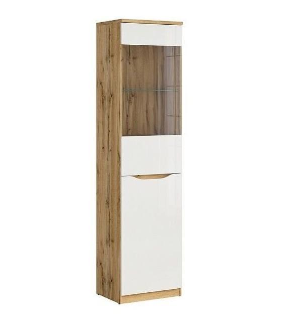 BRW NUIS REG1D1W Vitrína vysoká sektorový nábytok