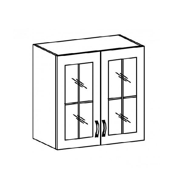 TK SICILIA G80S Felső üvegezett szekrény