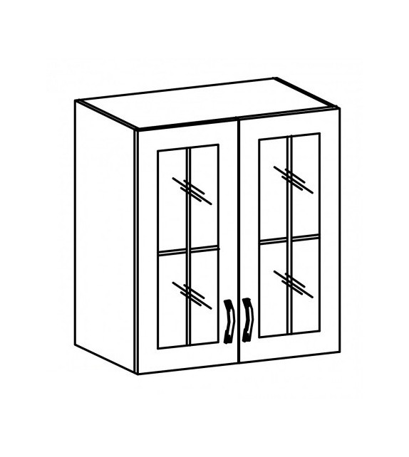 TK SICILIA G60S Felső üvegezett szekrény