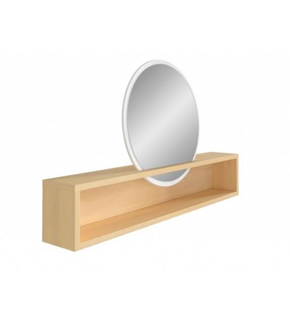 BRW PORI NAD nadstavec polica so zrkadlom sektorový nábytok