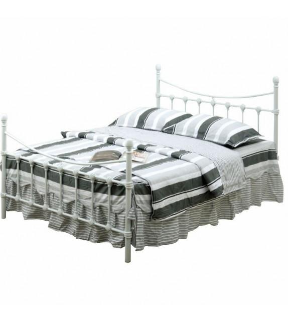 TK NIEVES 140 kovová manželská postel s lamelovým roštom