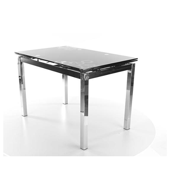 BRW GD-017 jedálenský stôl rozkladací sklenený