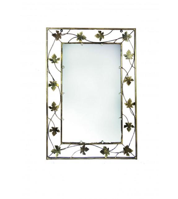 Kovové dekoračné zrkadlo malé M-058