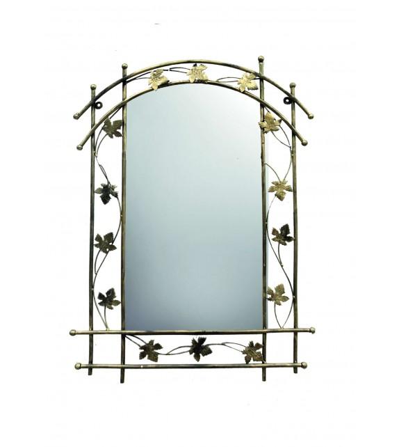 Kovové dekoračné zrkadlo Bambusz M-059