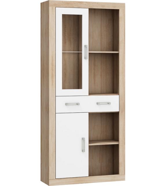 WIP VERIN VRN-15 regál vitrína 1DSWO lesk sektorový nábytok