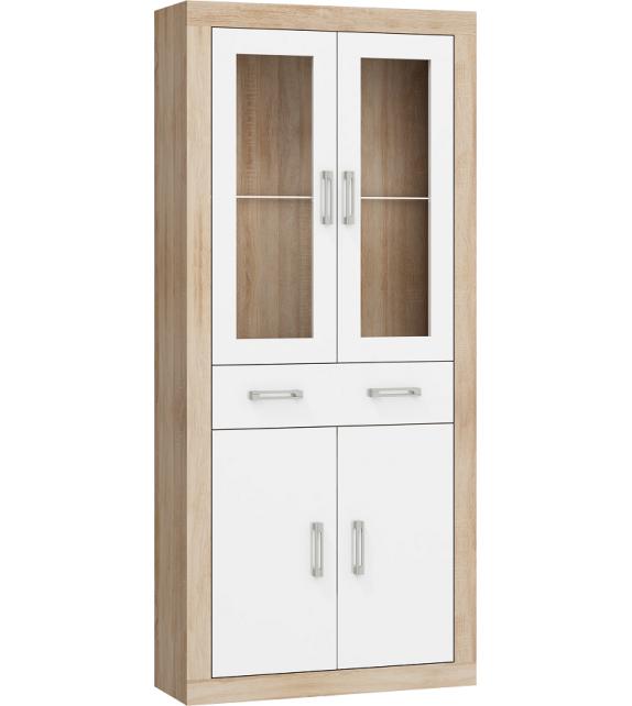 WIP VERIN VRN-18 regál vitrína 2DSW lesk sektorový nábytok