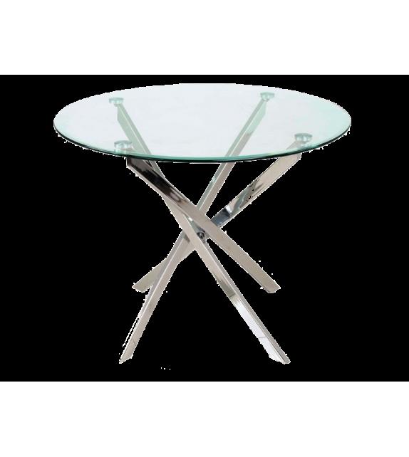 BRW AGIS Jedálenský sklenený stol okrúhly
