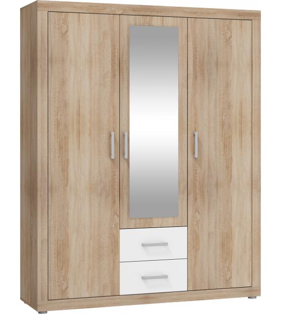 WIP VIKI VIK-07 skriňa kombinovaná so zrkadlom 3D lesk sektorový nábytok
