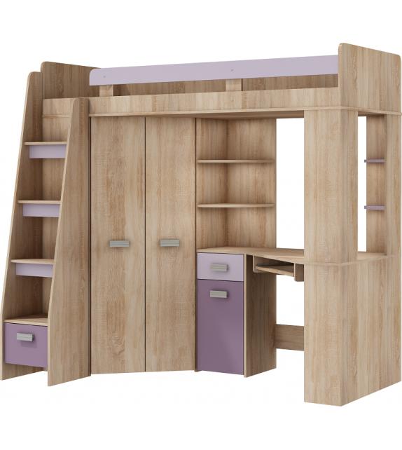 WIP ANTRESOLA poschodová postel so skriňou L/P