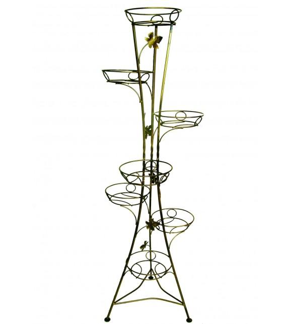 Kovový stojan na kvety vežovitý 7 W-001