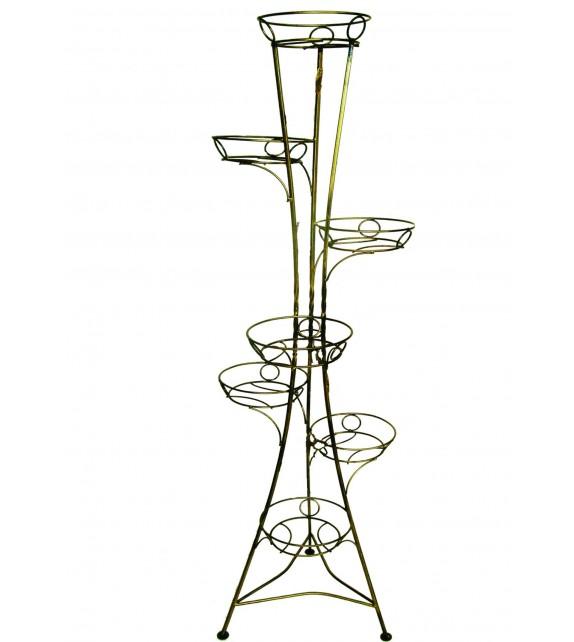 Kovový stojan na kvety vežovitý bez listov 7 W-002