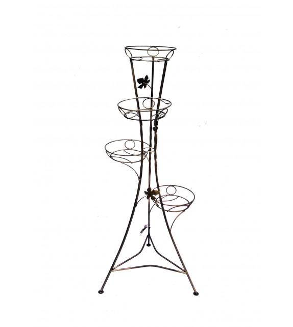 Kovový stojan na kvety vežovitý 4 W-005