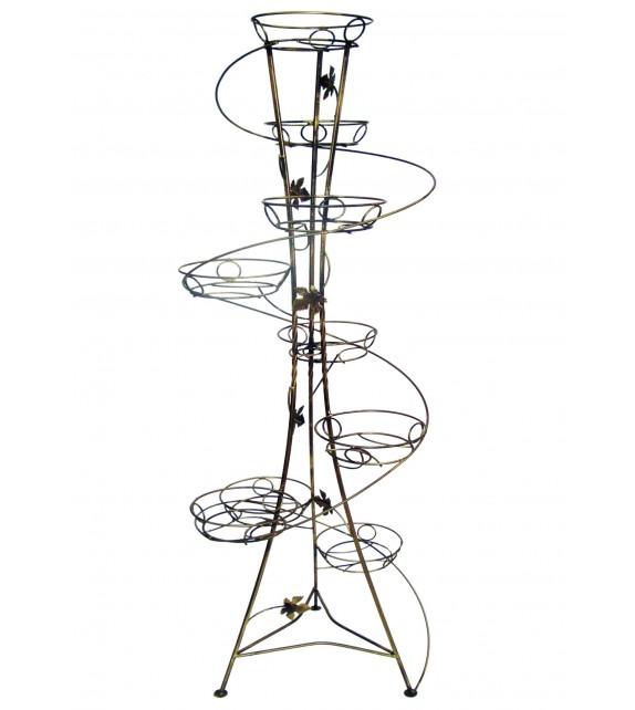 Kovový stojan na kvety spiral 9 W-010