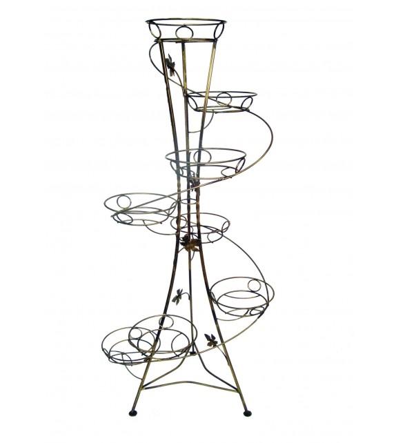 Kovový stojan na kvety vežovitý spiral 8 W-011