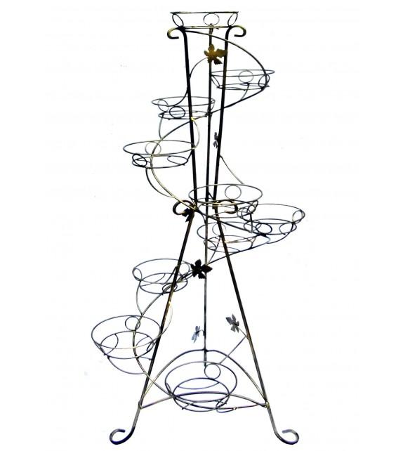 Kovový stojan na kvety vežovitý spiral 10 W-014