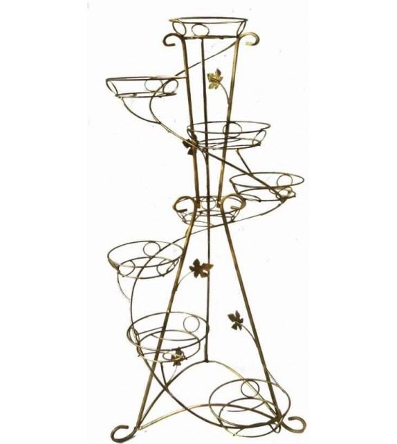 Kovový stojan na kvety vežovitý spiral 8 W-015