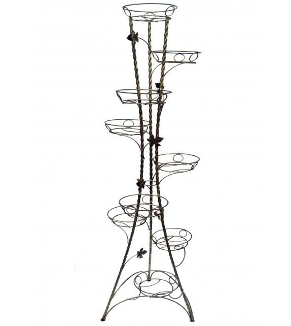 Kovový stojan na kvety točený vežovitý 9 W-021