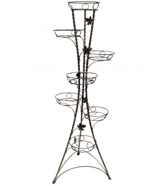 Kovový stojan na kvety točený vežovitý 7 W-022