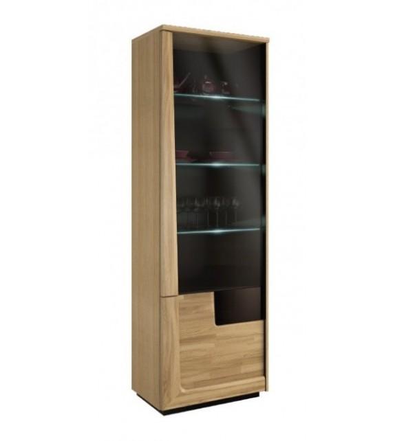 GLOBAL MAGANDA Vitrína s LED osvetlením L/P masívny sektorový nábytok
