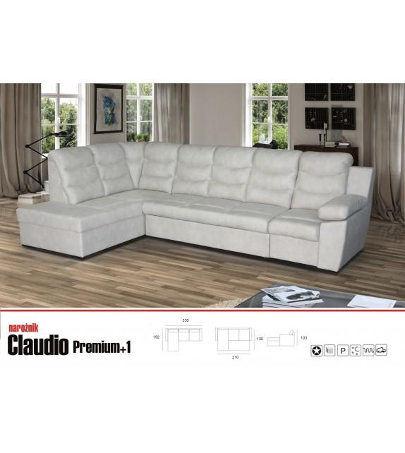LUK CLAUDIO Premium+1 Rohová sedacia súprava