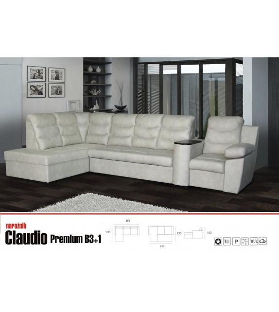 LUK CLAUDIO Premium B3+1 Rohová sedacia súprava
